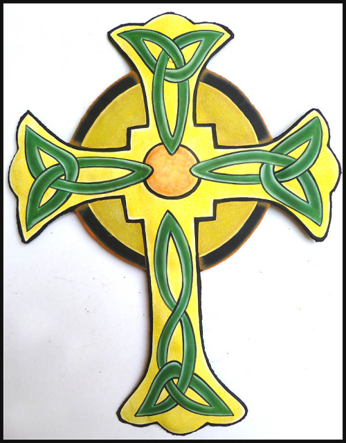 Decorative cross wall decor, Cross wall hangings, Cross metal art