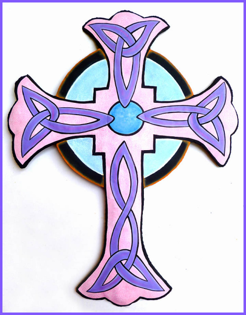 painted metal cross wall hanging
