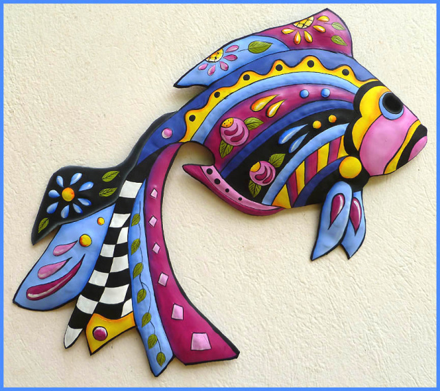 Fish Wall Art tropical fish metal art designs - handcrafted tropical decor