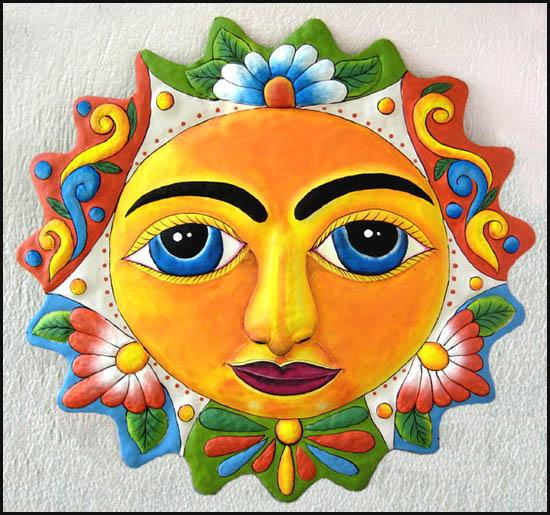 Hand painted metal outdoor garden art - Geckos, Butterflies, Suns ...