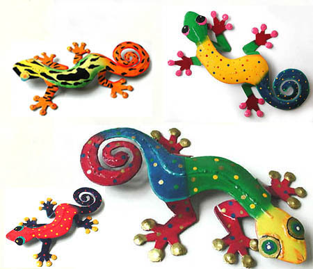 Tropic Accents - Brightly hand painted tropical wall decor. Geckos, turtles, frogs, butterflies, crabs, dragonflies and more.
