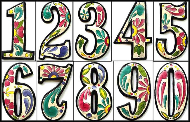 decorative metal house numbers handcrafted outdoor decor. Black Bedroom Furniture Sets. Home Design Ideas