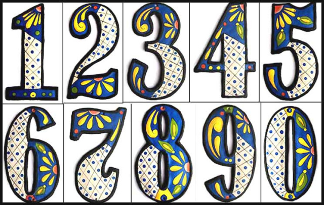 Image Gallery Decorative Numbers