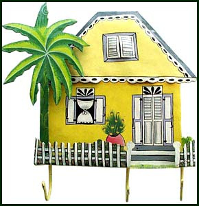 Caribbean house in metal