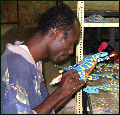 Photos Of Painting Steel Drum Metal Art In Haiti