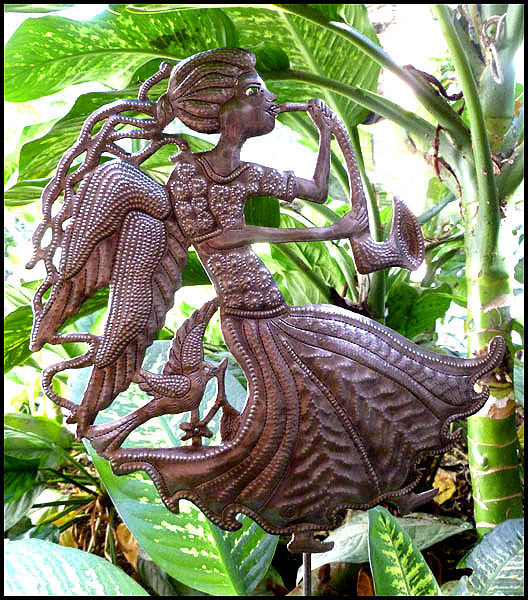 Garden Plant Stake Decor Outdoor Haitian Steel Drum Art View Images