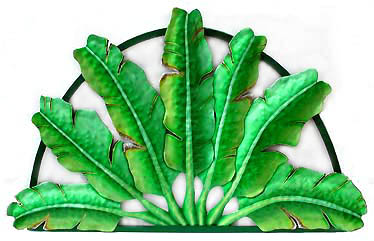 Tropical Wall Decor hand painted metal tropical plant designs - indoor or outdoor wall
