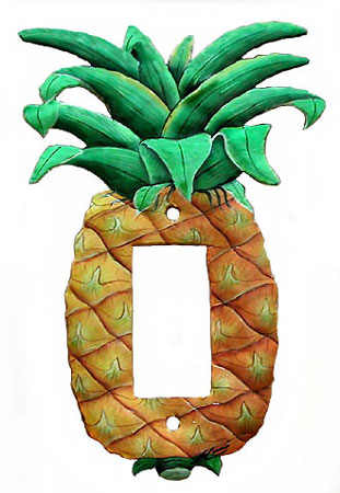 Pineapple Rocker Switchplate Cover Tropical Decorations Decorative Tropical Home Design Handcut From Recycled