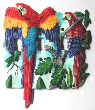 Scarlet Macaw Parrot Switchplate Cover - 7 1/2