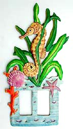 Tropical Seahorse Double Switchplate - Rocker Style - 7