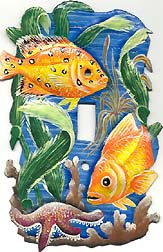 Gold Tropical Fish Decorative Switch Plate Cover - 5