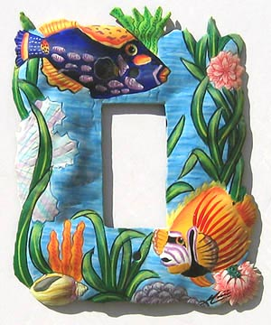 Tropical Fish Rocker Switchplate Cover - 5 1/4