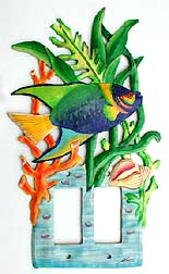 Impressive Tropical Fish Rocker Switch Plate Cover - 7