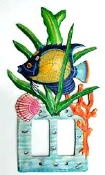 Unique Tropical Fish Rocker Switchplate Design - 7