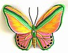 Painted Metal Butterfly Wall Decor - Metal Art. Outdoor Garden Art - 15""