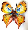 Butterfly Design - Painted Metal Indoor or Outdoor Patio Home Decor - 11""