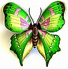 "Painted Metal Butterfly Wall Hanging - Outdoor Garden Decor - 29"" x 34"""