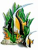 Tropical Fish Hand Painted Metal Wall Decor - Recycled Steel Drums - 19 1/2""