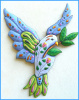 "Dove Wall Hanging - Hand Painted Metal Dove Wall Decor - 26"" x 20"""