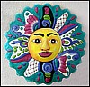 "Sun Hand Painted Metal Wall Hanging - Haitian Steel Drum Art - 24"" x 24"" -"