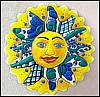 "Sun Outdoor Garden Wall Decor - Hand Painted Metal Sun - 24"" x 24"""
