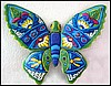"Butterfly Wall Art - Painted Metal Art Outdoor Garden Wall Decor - 14"" x 19"""