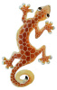 Painted Metal Gecko Garden Decor - Giraffe Design - Haitian Steel Drum