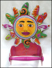 "Painted Metal Sun Toilet Paper Holder - Bathroom Decor - Toilet Tissue Holder - 11 1/2"" x 10"""
