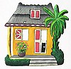 Light Switchplate Cover - Painted Metal Tin Roof Caribbean House- Switch Plate