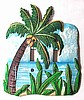Tropical Coconut Tree Toggle Painted Metal Switchplate - 2 Holes