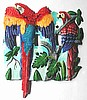 Scarlet Macaw Parrot Switchplate Cover - Hand Painted Tropical Home Decor