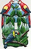 "Painted Metal Parrot Toggle Switchplate Cover - Light Switch - 1 Hole - 5"" x 7"""