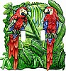 Parrot Decorative Switchplate Cover - Painted Metal Light Switch Cover