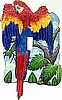 "Parrot Toggle Switchplate Cover - Painted Metal Tropical Decor - 1 Hole - 5"" x 7"""