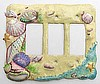 Shell Rocker Switch Plate Cover - Handcrafted Seashell Bathroom Design