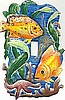Tropical Fish Decorative Painted Metal Switch Plate Cover - Light Switch Cover