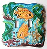 Electrical Switchplate Cover - Painted Metal Tropical Fish Design