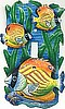 Switchplate - Tropical Fish Painted Metal Switch Plate Cover - Single