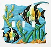 Triple Switch Plate Cover - Painted Metal Decorative Moorish Idol Switchplate Design