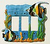 Moorish Idol Triple Rocker Switch Plate Cover - Tropical Fish Decor
