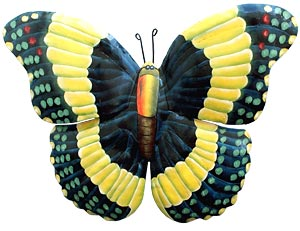 Butterfly Wall Hanging - Hand Painted Metal Garden Art - 8