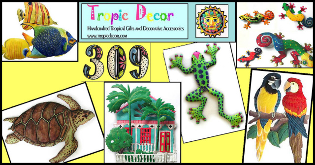 Tropic Decor - Handcrafted, hand painted metal tropical home decor - www.tropicdecor.com