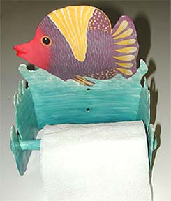 Tropical Fish Toilet Paper Holder -Caribbean Decor