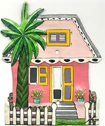 Painted metal light switch plate covers - Caribbean house design