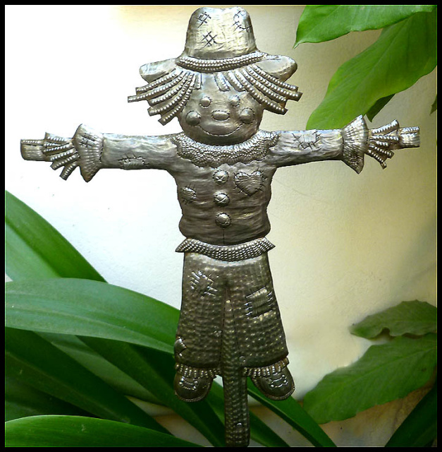 metal plant stake - garden decor - Haiti metal art