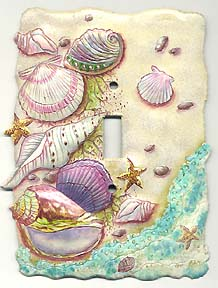 Seashell Switchplate Cover - Distinctive Shell Home Decor - 1 Hole - 5