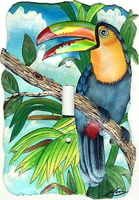 Toucan Parrot Toggle Switchplate Cover - Tropical Design Light Switch Cover
