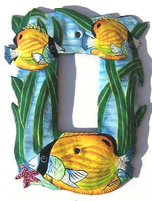 Yellow Tropical Fish Single Switchplate Cover - 5