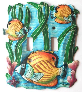 Tropical Fish Toggle Switchplate Cover - Tropical Home Decor - 6