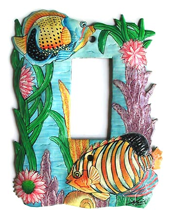 Tropical Fish Metal Rocker Switchplate Cover - Single - 5